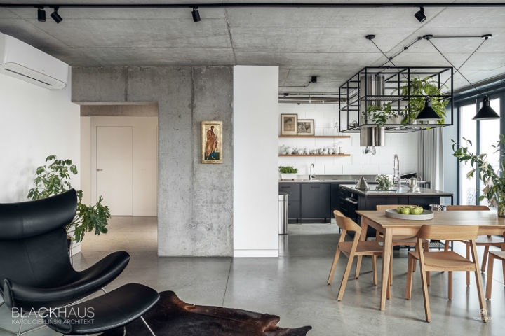contemporary concrete house interior design 9