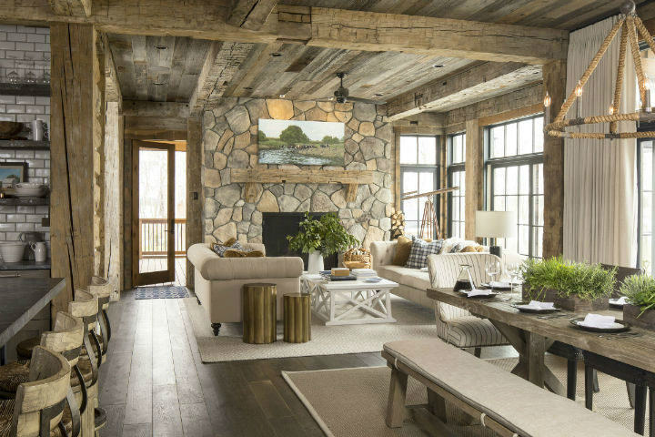 cozy cabin with stone and wood 2