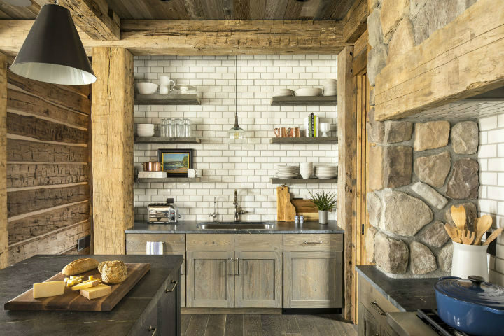 cozy cabin with stone and wood 6