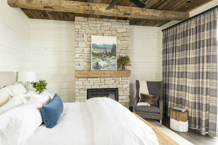 cozy cabin with stone and wood 8