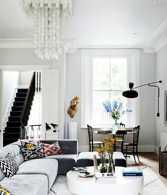 industrial chic glamorous home interior design