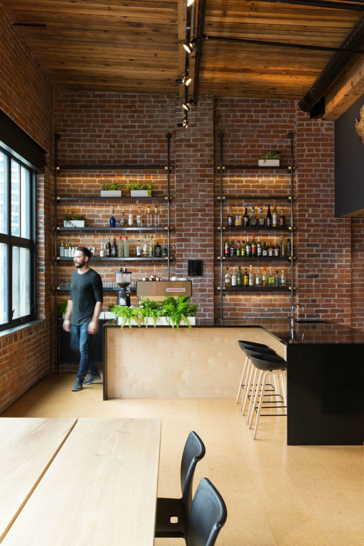 industrial warehouse turned into modern office