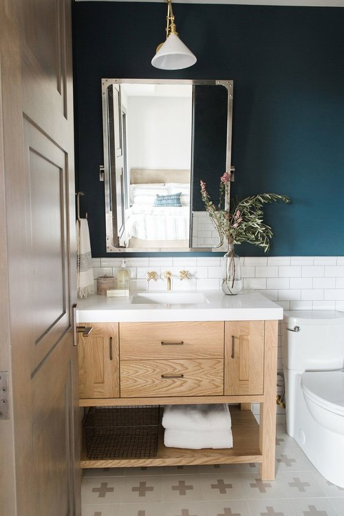 blue bathroom design idea 7