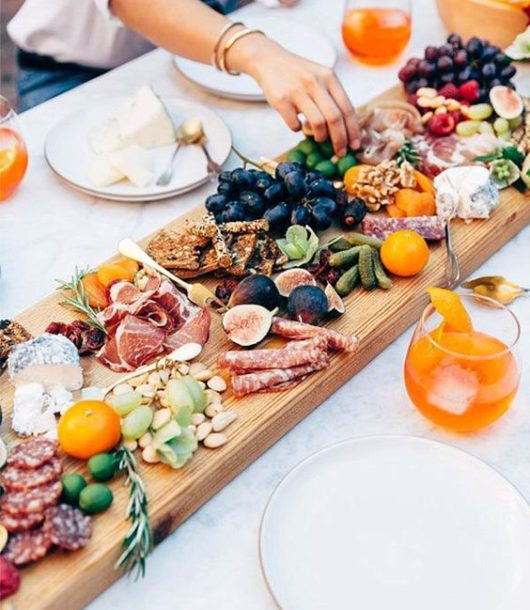 large finger food board idea