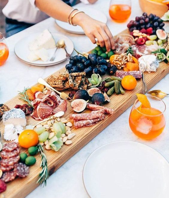 large finger food board idea
