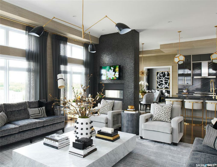 Glamorous Chic and Sophisticated Interiors 10