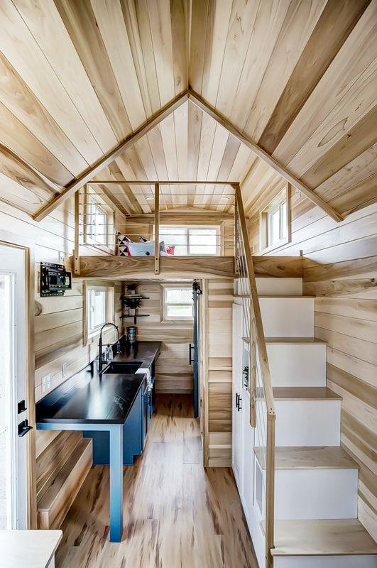 tiny stylish trailer home interior design 11