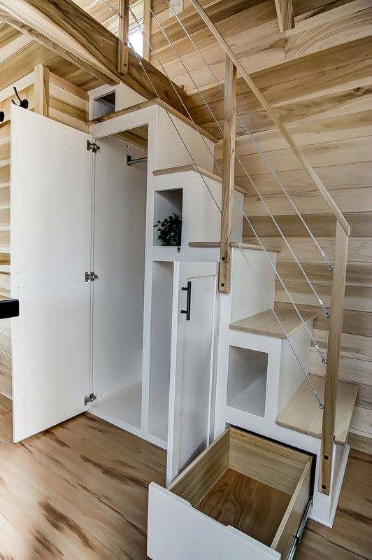 tiny stylish trailer home interior design 14