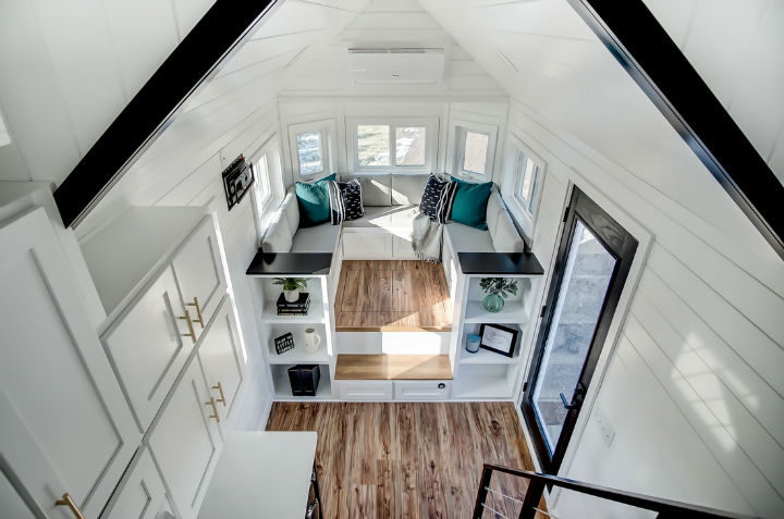 tiny stylish trailer home interior design 15