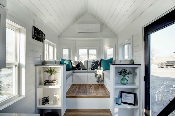 tiny stylish trailer home interior design 16