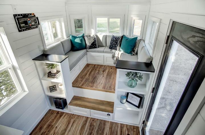 tiny stylish trailer home interior design 17