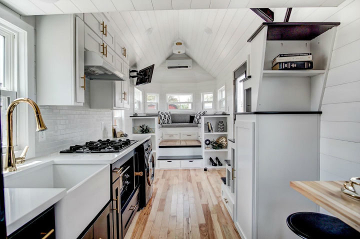 tiny stylish trailer home interior design 2