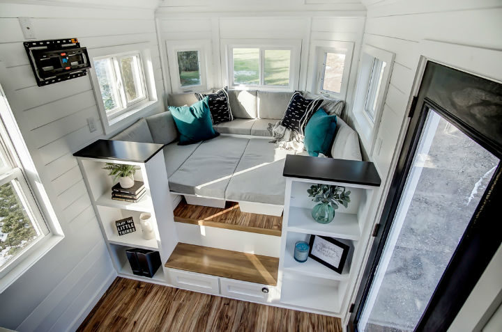 tiny stylish trailer home interior design 21
