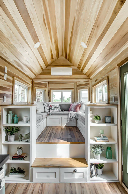tiny stylish trailer home interior design 23