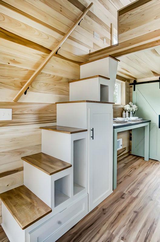 tiny stylish trailer home interior design 26