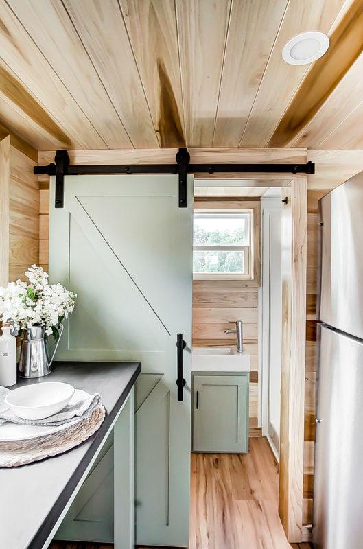 tiny stylish trailer home interior design 28