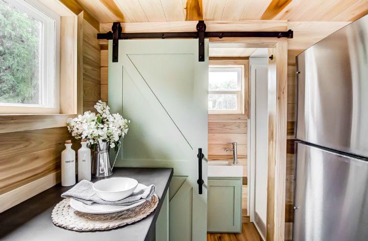 tiny stylish trailer home interior design 29