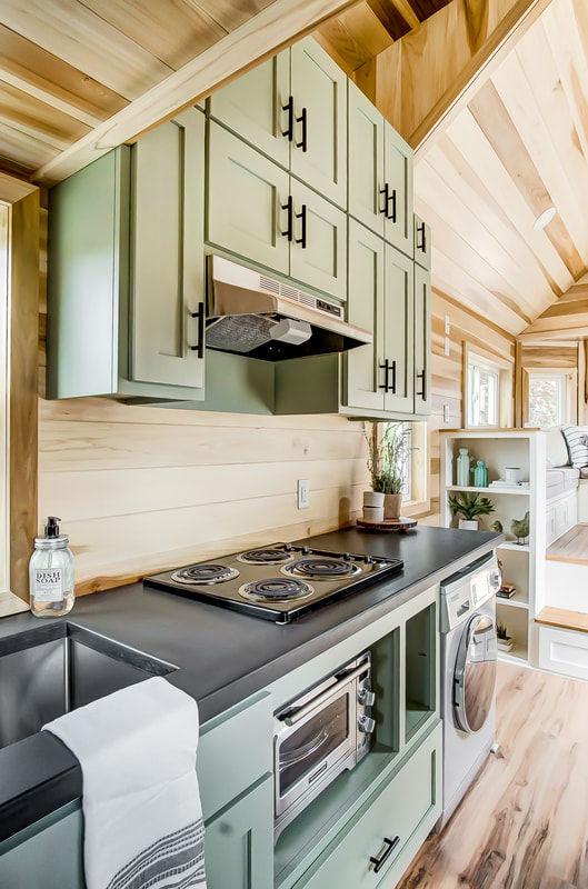 tiny stylish trailer home interior design 32