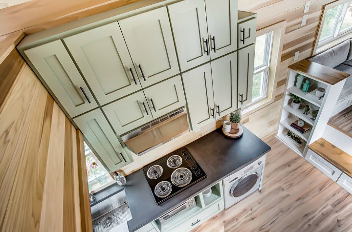 tiny stylish trailer home interior design 34