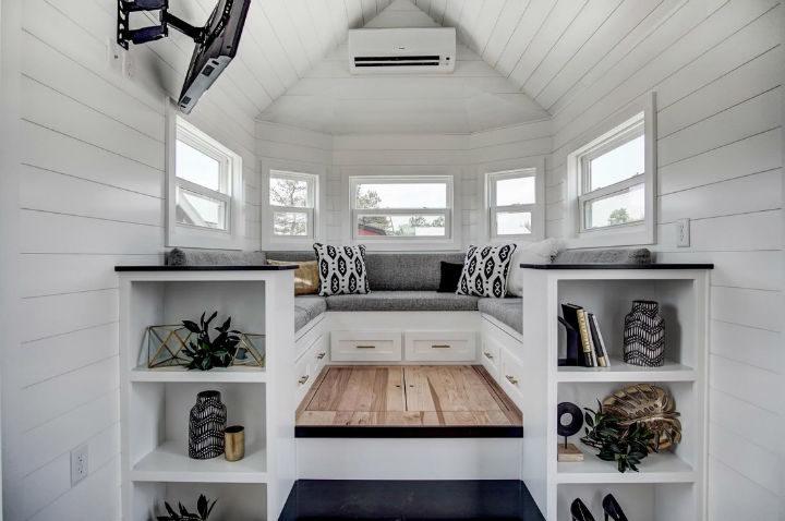 tiny stylish trailer home interior design 4