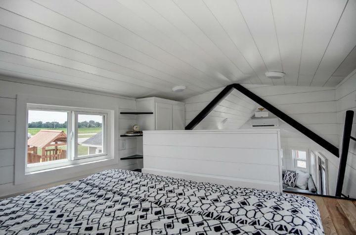 tiny stylish trailer home interior design 6