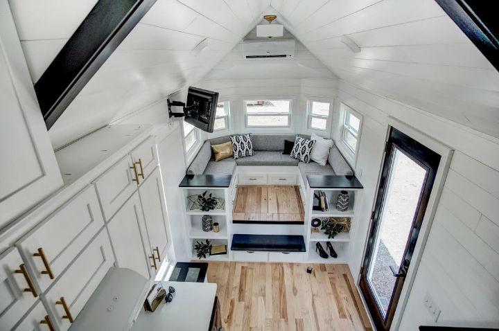 tiny stylish trailer home interior design 7