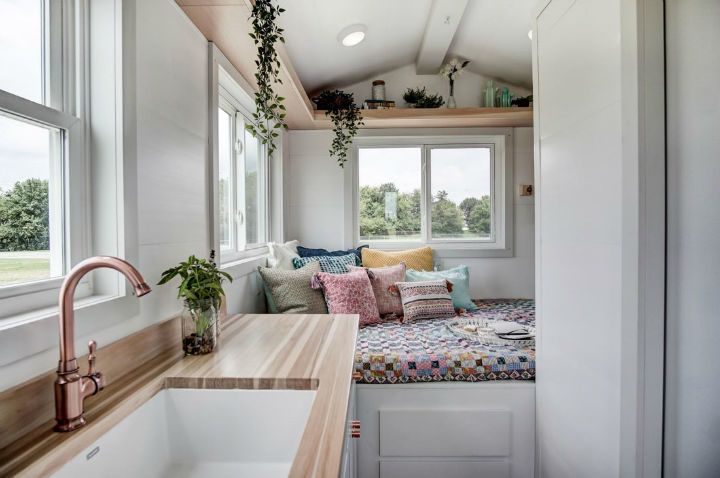 tiny stylish trailer home interior design 9