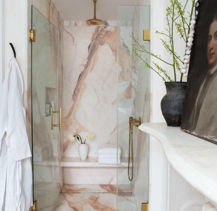 marble in shower design idea