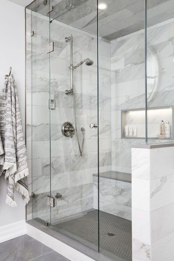 marble in shower design idea 12