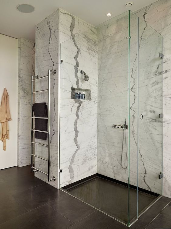 marble in shower design idea 10