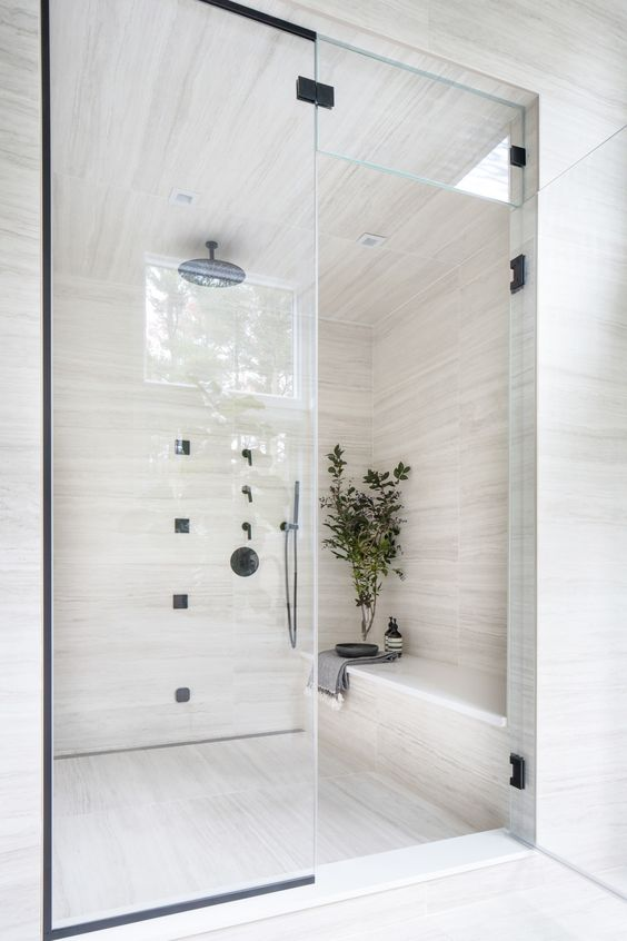 marble in shower design idea 2