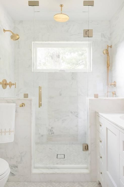 marble in shower design idea 3