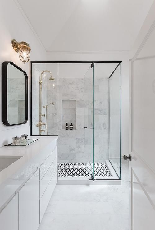 marble in shower design idea 4
