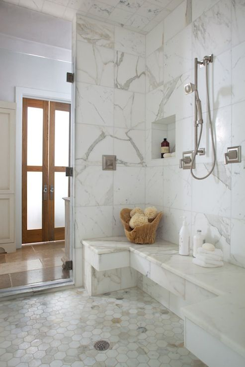 marble in shower design idea 6