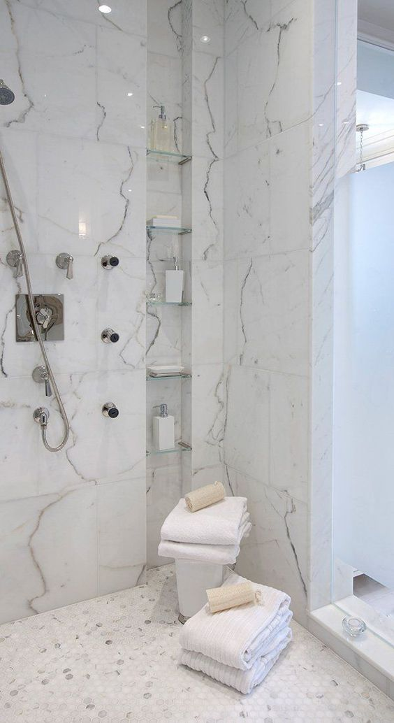marble in shower design idea 7
