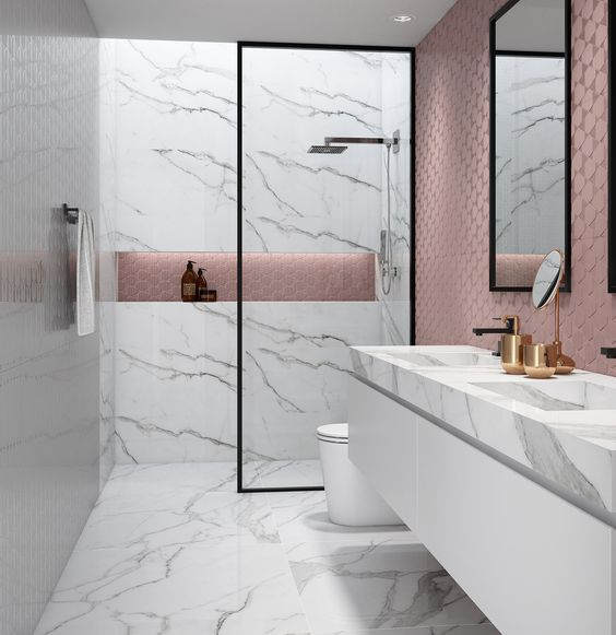 marble in shower design idea 9