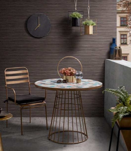 design multicoloured Mosaic Tile Outdoor Table