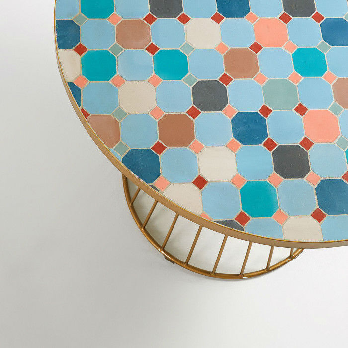 design multicoloured Mosaic Tile Outdoor Table 4