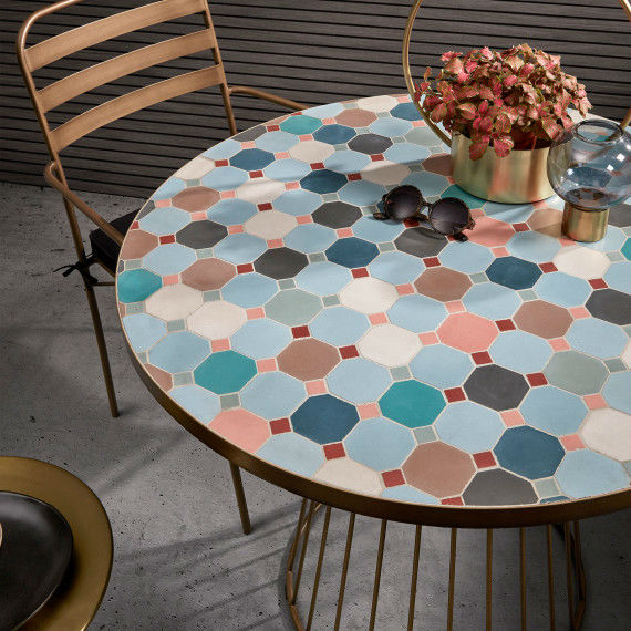 design multicoloured Mosaic Tile Outdoor Table 5