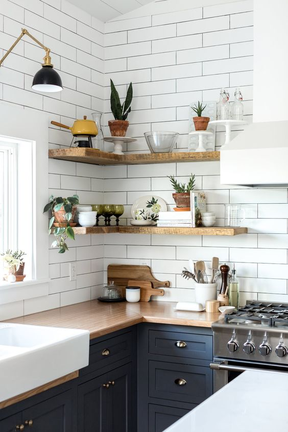 10 Amazing Kitchen Open Shelving Ideas - Decoholic