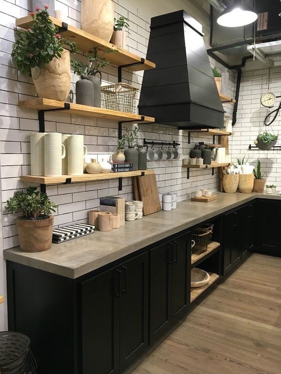 Kitchen Open Shelving Idea 8