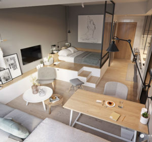 Small Studio Apartment Design Idea 6