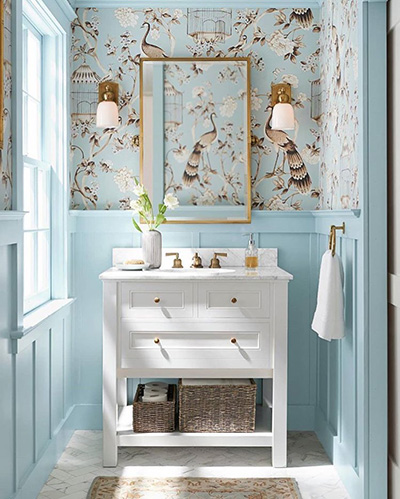 mineral bathroom wallpaper design idea