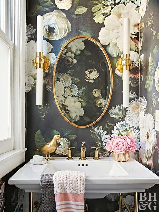 perfect floral bathroom wallpaper