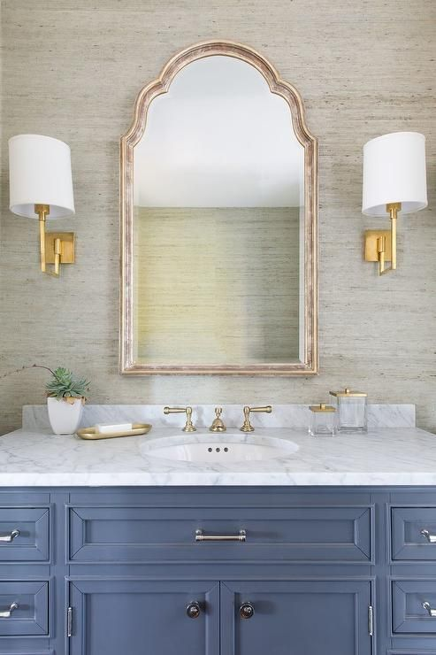 gorgeous wallpaper bathroom design idea