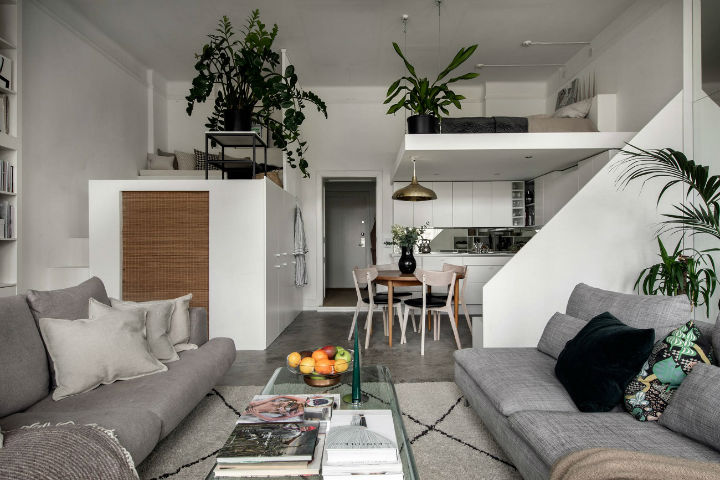 small Scandinavian loft interior design idea 10