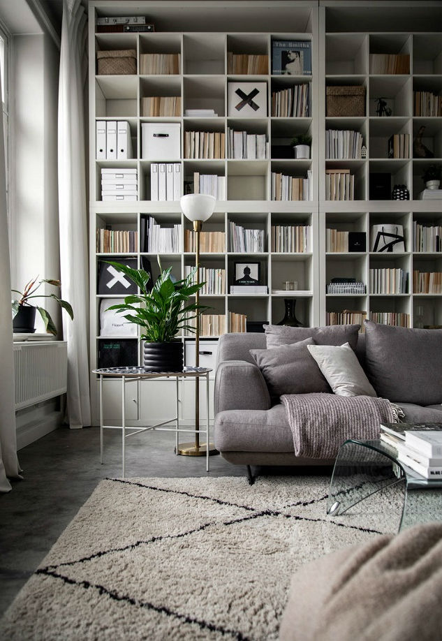 small Scandinavian loft interior design idea 12