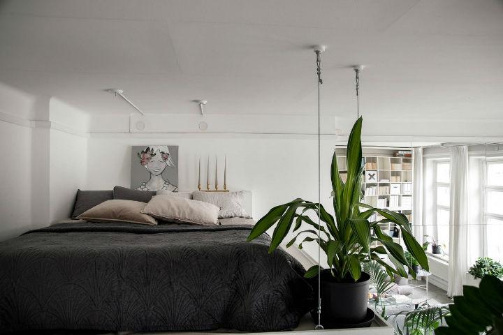 small Scandinavian loft interior design idea 14