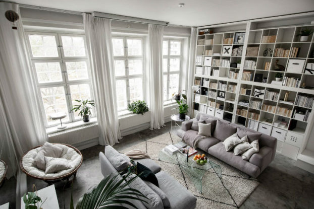small Scandinavian loft interior design idea 2