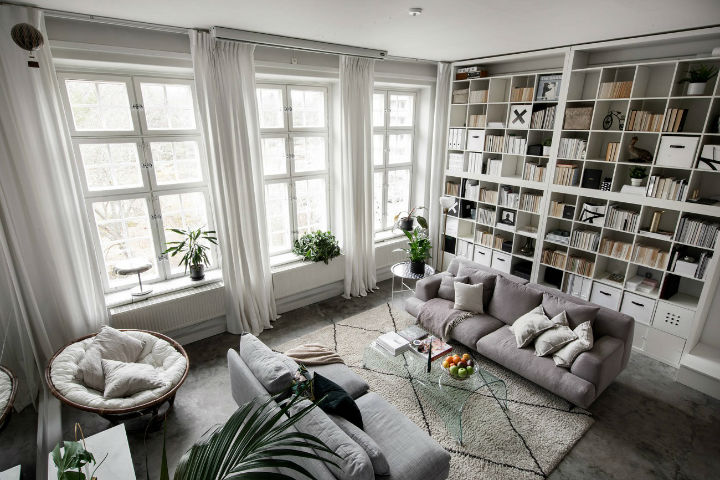 small Scandinavian loft interior design idea 2